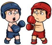 Boxeo de la historieta Imágenes de archivo libres de regalías