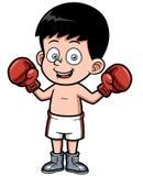 Boxeo de la historieta ilustración del vector