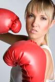 Boxeo de la muchacha Fotos de archivo libres de regalías