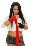 Boxeo de la muchacha Fotografía de archivo