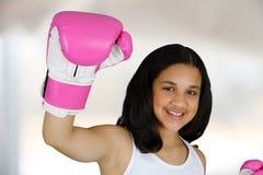 Boxeo de la muchacha Imagen de archivo libre de regalías