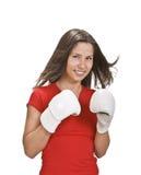 Boxeo de la muchacha Imágenes de archivo libres de regalías