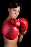Boxeo de la mujer imagenes de archivo