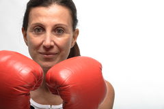 Boxeo de la mujer Fotos de archivo