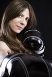 Mujer sensual y atractiva del boxeo Fotografía de archivo libre de regalías