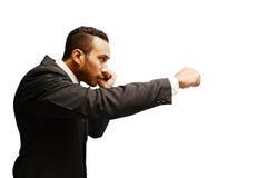 boxeo del hombre de negocios Imagen de archivo