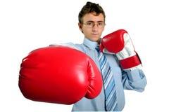 Boxeo del hombre de negocios foto de archivo libre de regalías