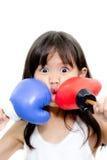 Boxeo del niño Imágenes de archivo libres de regalías