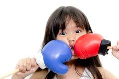 Boxeo del niño Imagen de archivo