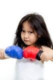 Boxeo del niño Fotografía de archivo