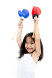 Boxeo del niño Fotografía de archivo libre de regalías