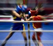 Boxeo en un anillo Imagen de archivo