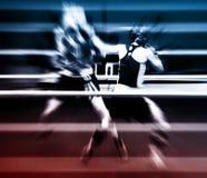 Boxeo en un anillo Fotos de archivo