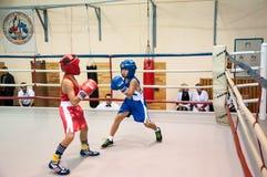 Boxeo entre adolescentes Fotografía de archivo