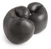 Boxeo-guante negro Fotos de archivo