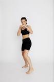 Boxeo hermoso de la muchacha Fotos de archivo libres de regalías