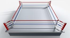 Boxeo Ring Isolated White Imagen de archivo libre de regalías
