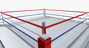 Boxeo Ring Isolated White Imagen de archivo