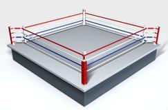 Boxeo Ring Isolated White Imágenes de archivo libres de regalías