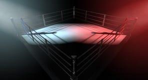 Boxeo Ring Opposing Corners Fotografía de archivo