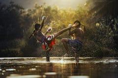 Boxeo tailandés Fotografía de archivo