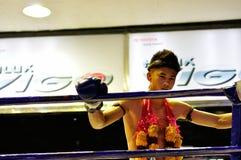 Boxeo tailandés Fotos de archivo