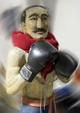 Boxer. Wooden boxing statue Stock Photography