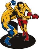 Boxer-Ausscheidungswettkampflocher Stockfoto