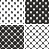Boxer Avatar Seamless Pattern Set Royalty Free Stock Photos