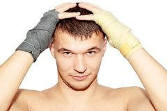 Boxer bandages Royalty Free Stock Image