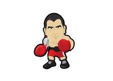 Boxer boxeur Tyson-Handschuhe bereit zum Boxen Lizenzfreies Stockbild