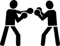 Boxer Boxing Fight. Icon pictogram Stock Photo