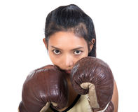 Boxer with boxing gloves Royalty Free Stock Images