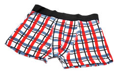 Boxer briefs. Patterned boxer briefs on a white background Stock Photography