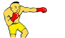 Boxer. Caricature illustration of boxer Stock Image