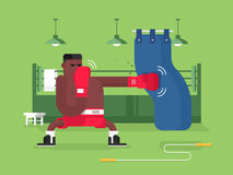 Boxer cartoon character Stock Images