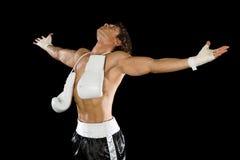 Boxer celebrating Stock Photography
