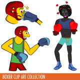 Boxer Clip Art collection Stock Photography