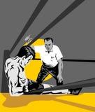 boxer counting down referee Στοκ φωτογραφία με δικαίωμα ελεύθερης χρήσης