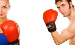 Boxer couple Royalty Free Stock Photography