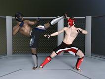 Boxer. 3D CG rendering of boxer Royalty Free Stock Photos