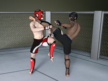 Boxer. 3D CG rendering of boxer Stock Photos