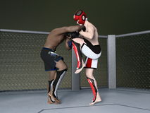Boxer. 3D CG rendering of boxer Stock Photo