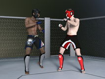 Boxer. 3D CG rendering of boxer Royalty Free Stock Images