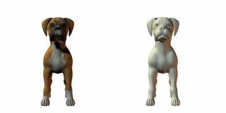Boxer dog 3d model royalty free illustration
