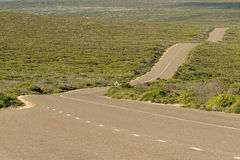 Boxer Drive, windy wavy roadway on Kangaroo Island, South Austra Stock Photos