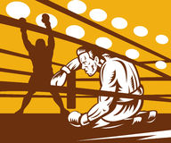Boxer fighter knockout Royalty Free Stock Photos