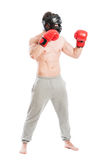 Boxer or fighter side view Royalty Free Stock Image