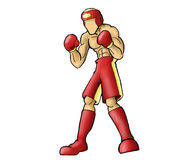 Boxer Figure action Royalty Free Stock Photography
