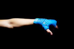Boxer fist punch Royalty Free Stock Photos